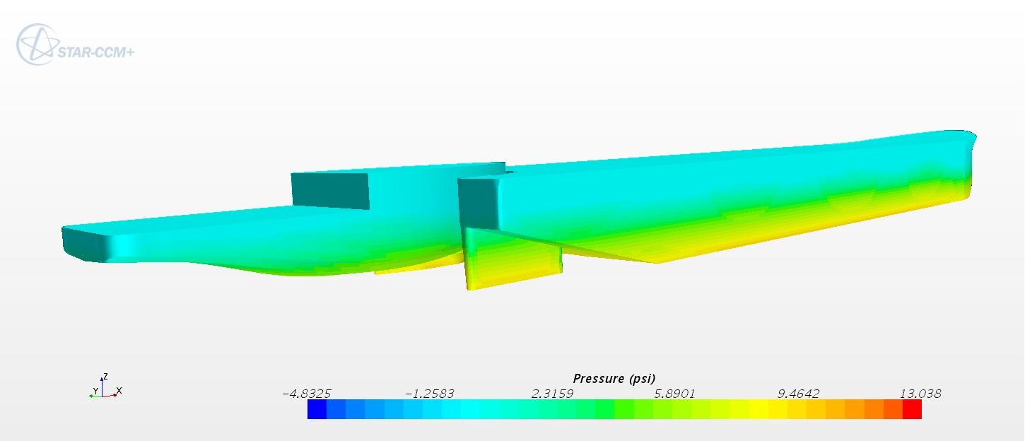 Computational Fluid Dynamic (CFD) optimizes vessel hull form