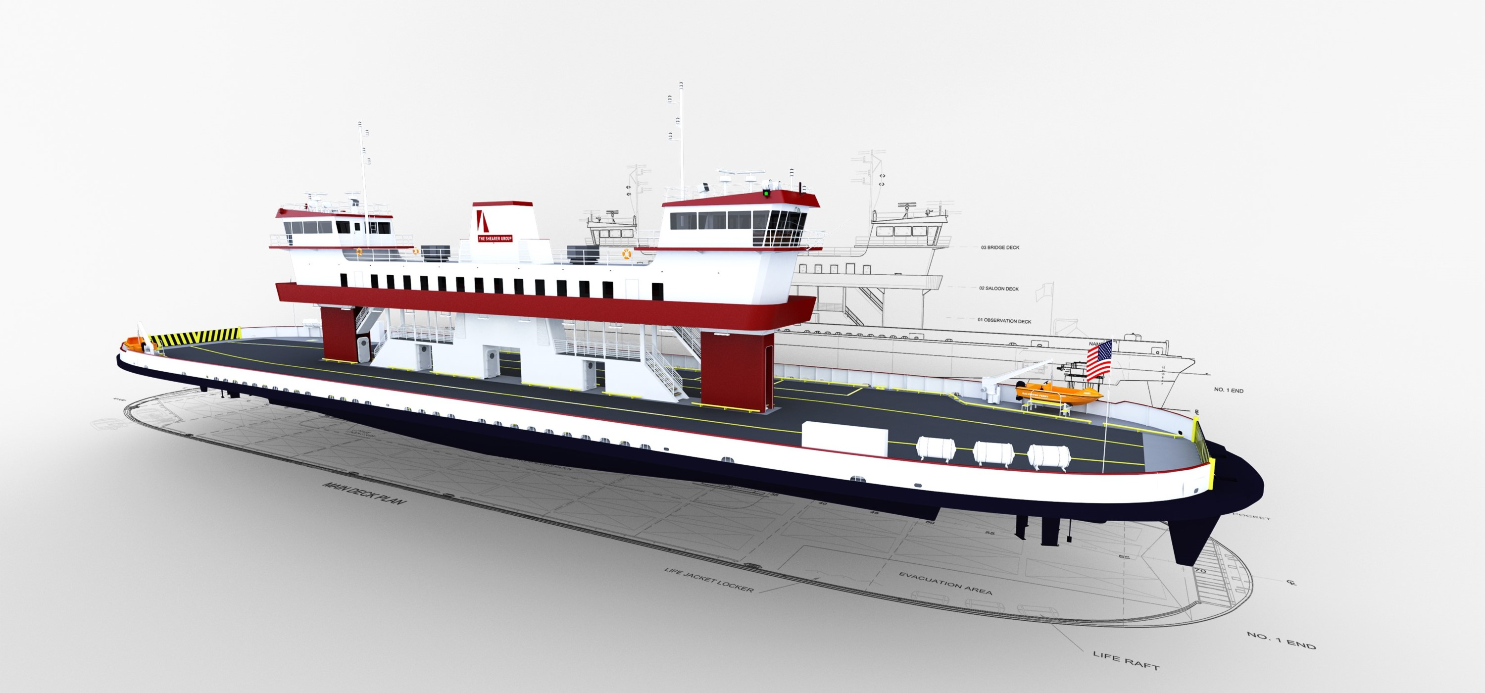 Vehicle transport ferry - Commercial vessel design