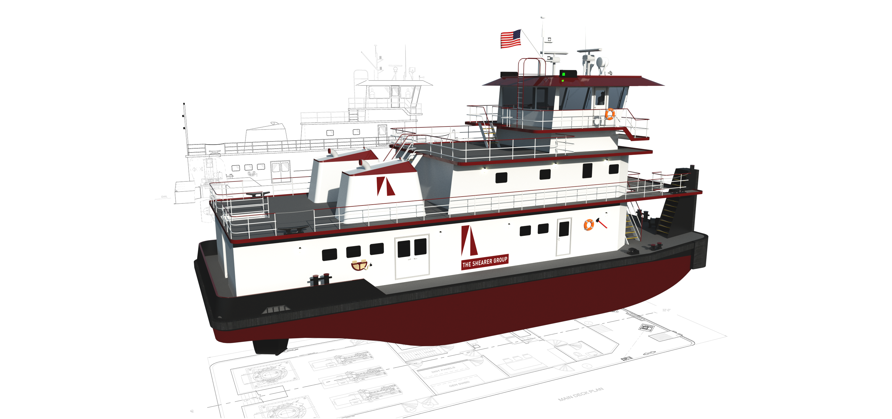 4,000 HP CONVENTIONAL SCREW INLAND TOWBOAT – The Shearer