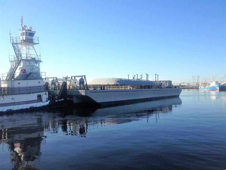 Barge Departing