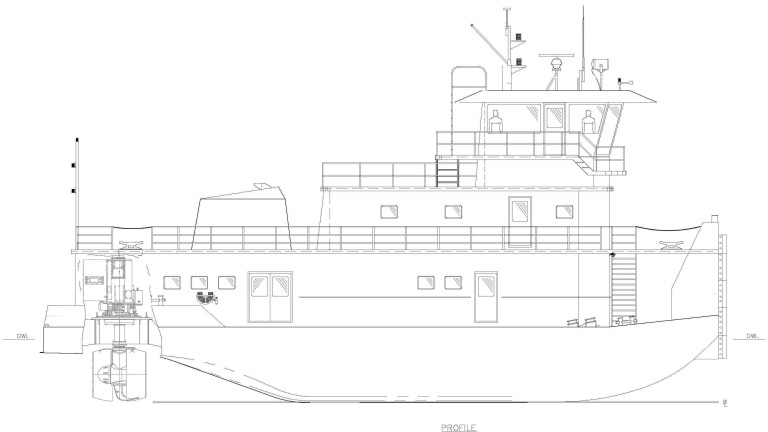 86' 2400HP Z Drive Inland Towboat_profile
